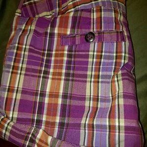 Apt 9 plaid shorts.
